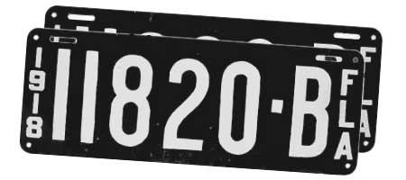 Pair of 1918 Florida plates  sc 1 st  Florida License Plate Gallery & Florida License Plate Gallery